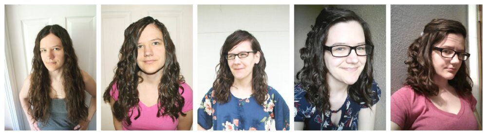 before and after curly girl method results wavy hair