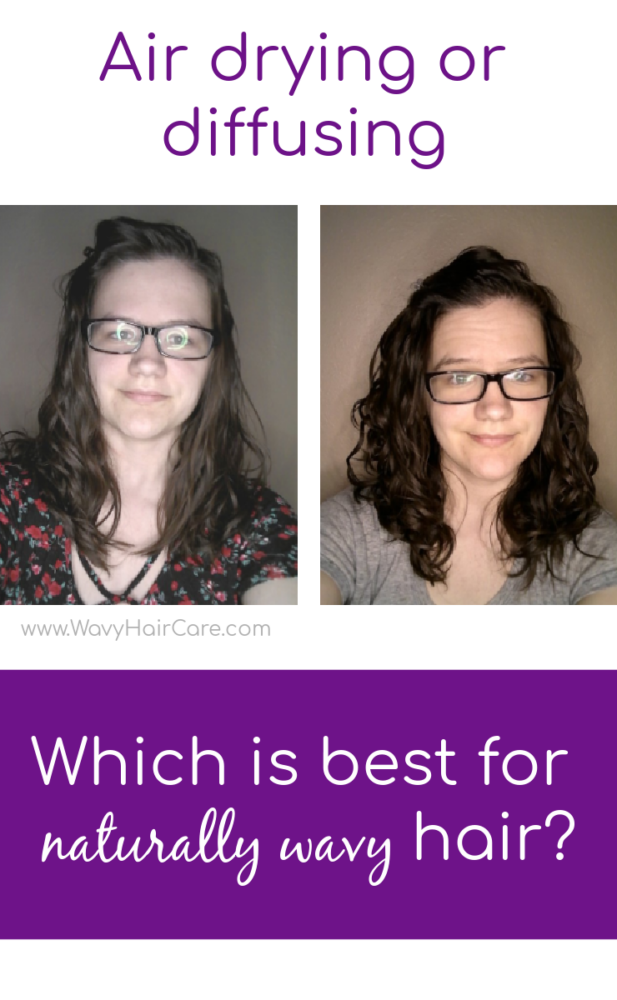 air drying vs diffusing wavy hair results with mousse