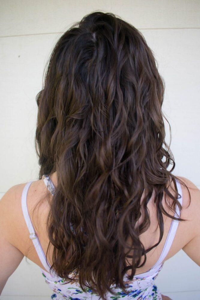 wavy hair curly girl method beginner