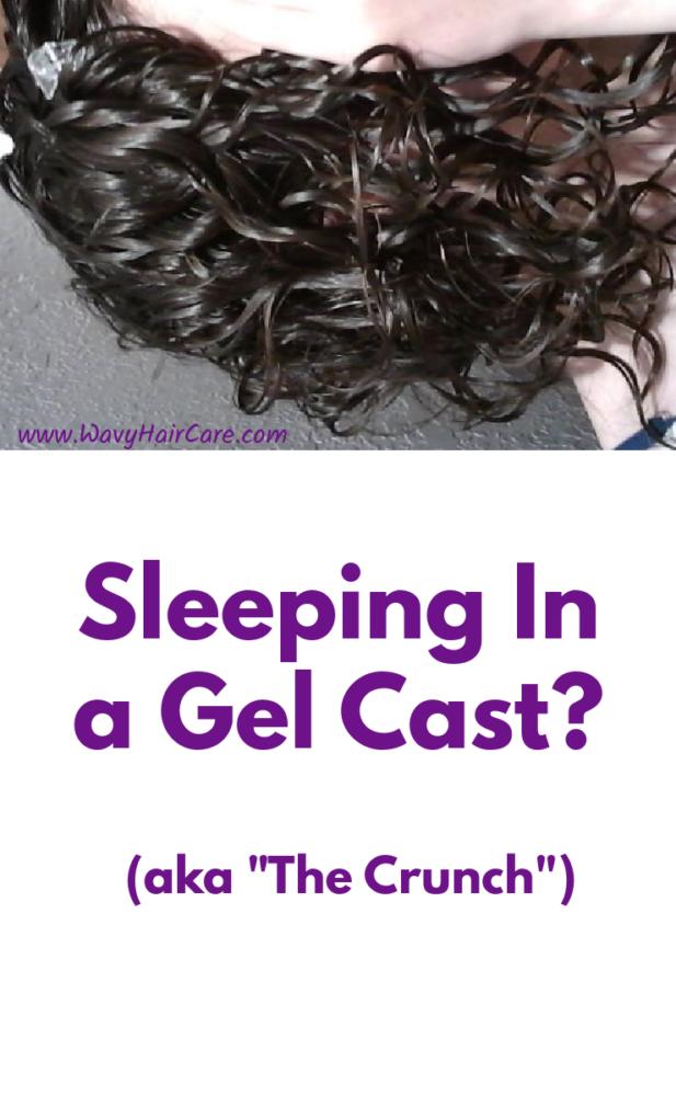 Sleeping in the crunch? Aka sleeping in a gel cast.
