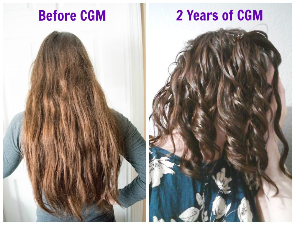 Wavy hair before and after curly girl method
