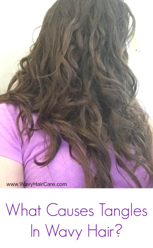 What causes tangles in wavy hair?