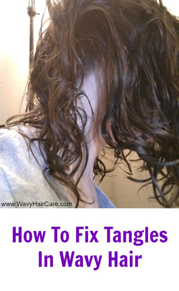 How to fix tangles in wavy hair
