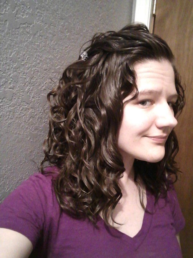 well defined wavy hair