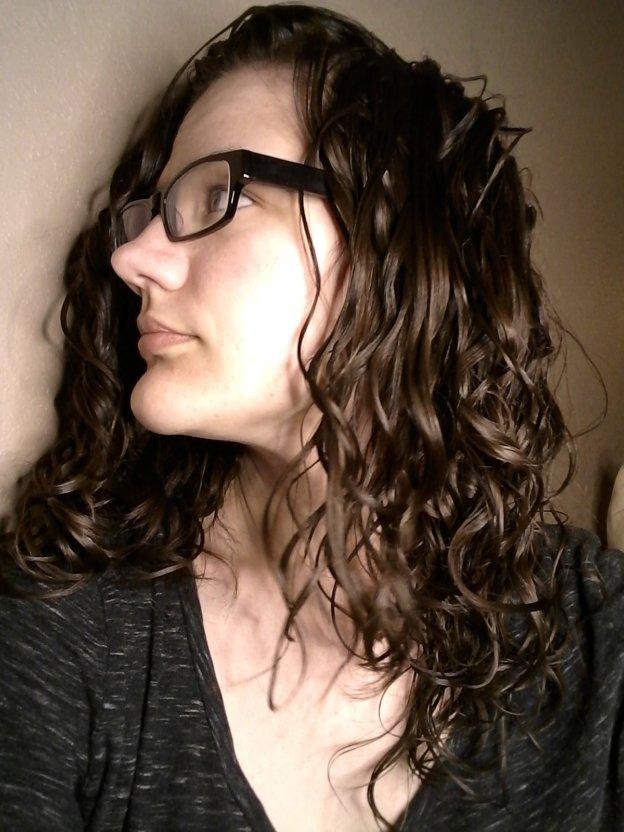 before gelatin treatment wavy hair