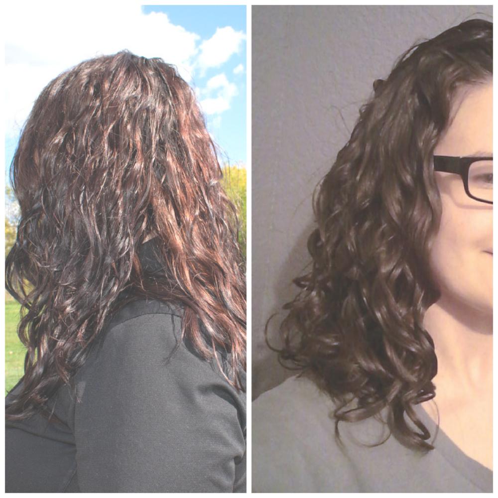 does scrunching hair create curls?
