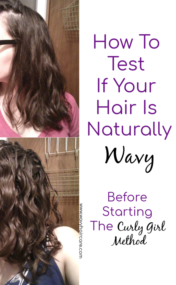 How to test if your hair is naturally wavy before starting the curly girl method