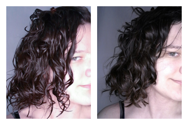 before and after scrunch out the crunch