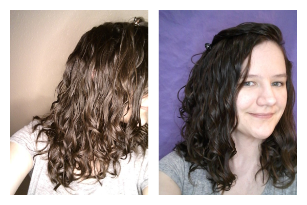upside down vs rightside up styling results wavy hair
