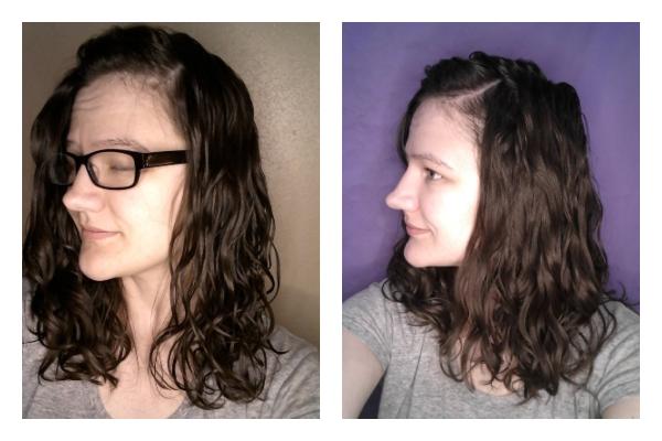upright vs upsidedown styling wavy hair