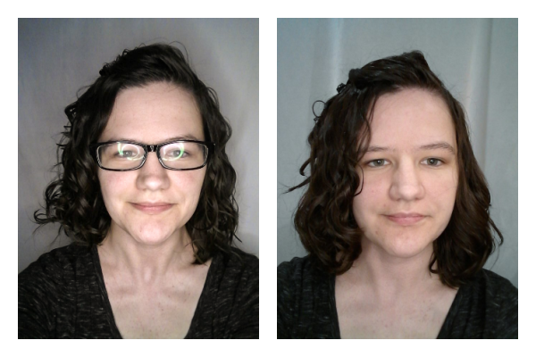 Comparing damp styling to wet styling for wavy hair