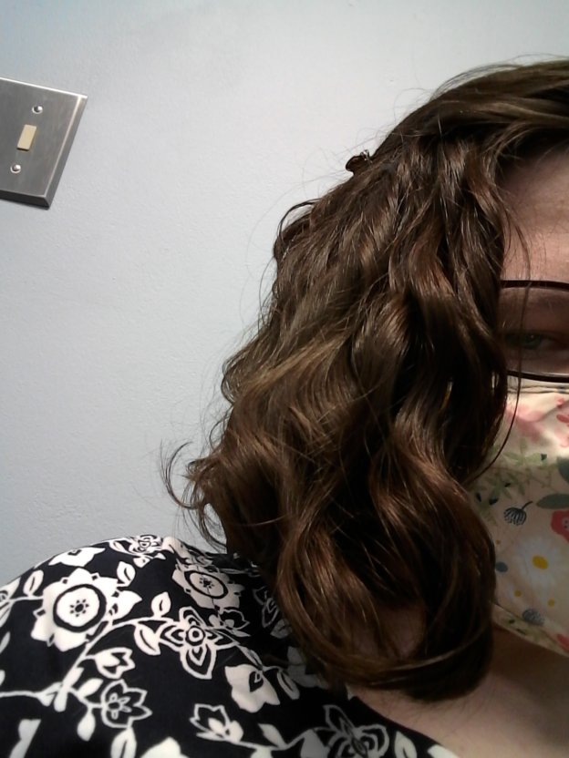 wavy hair weighed down