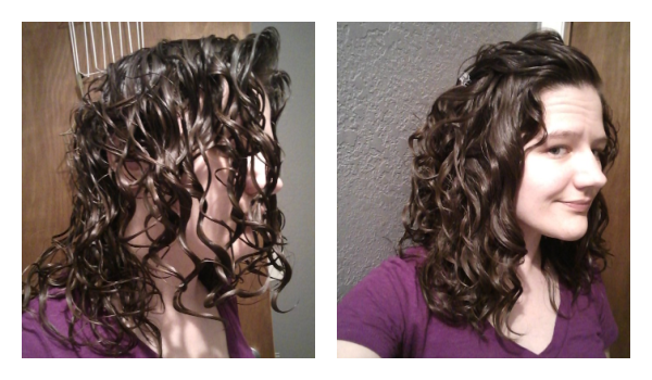 before and after scrunch out the crunch wavy hair