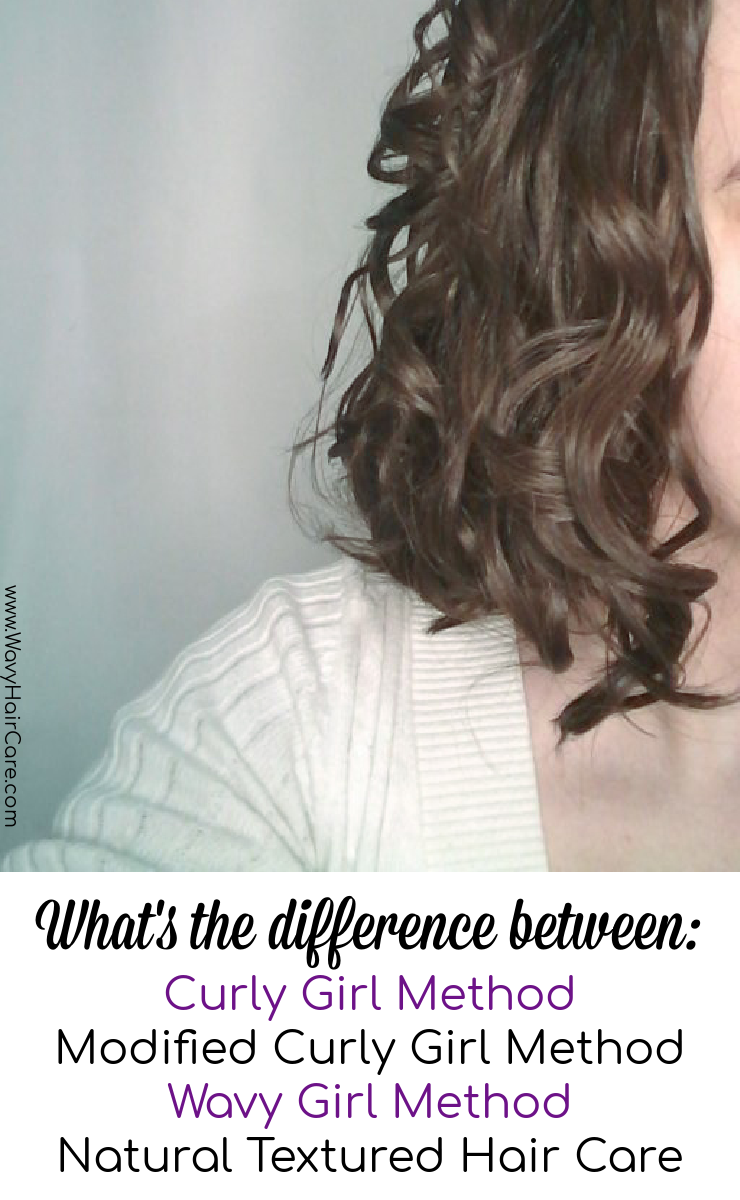 What's the difference between curly girl method, modified curly girl method, wavy girl method and natural textured hair care?