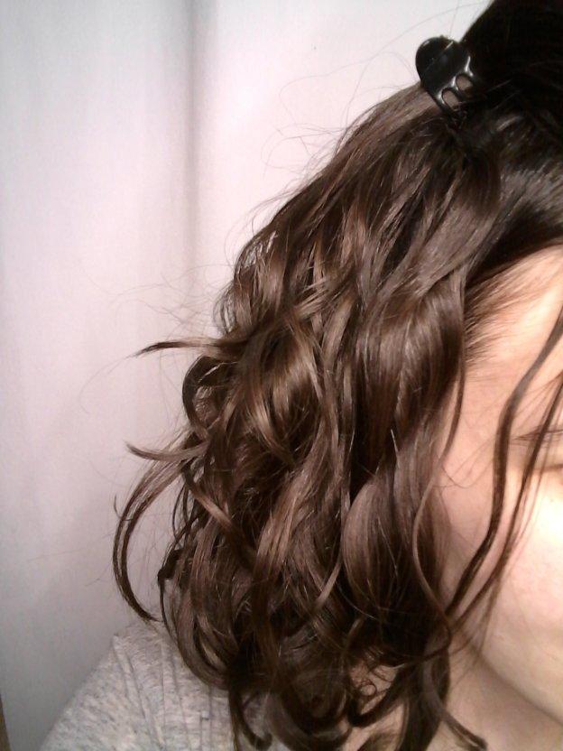 day 3 frizzy wavy hair
