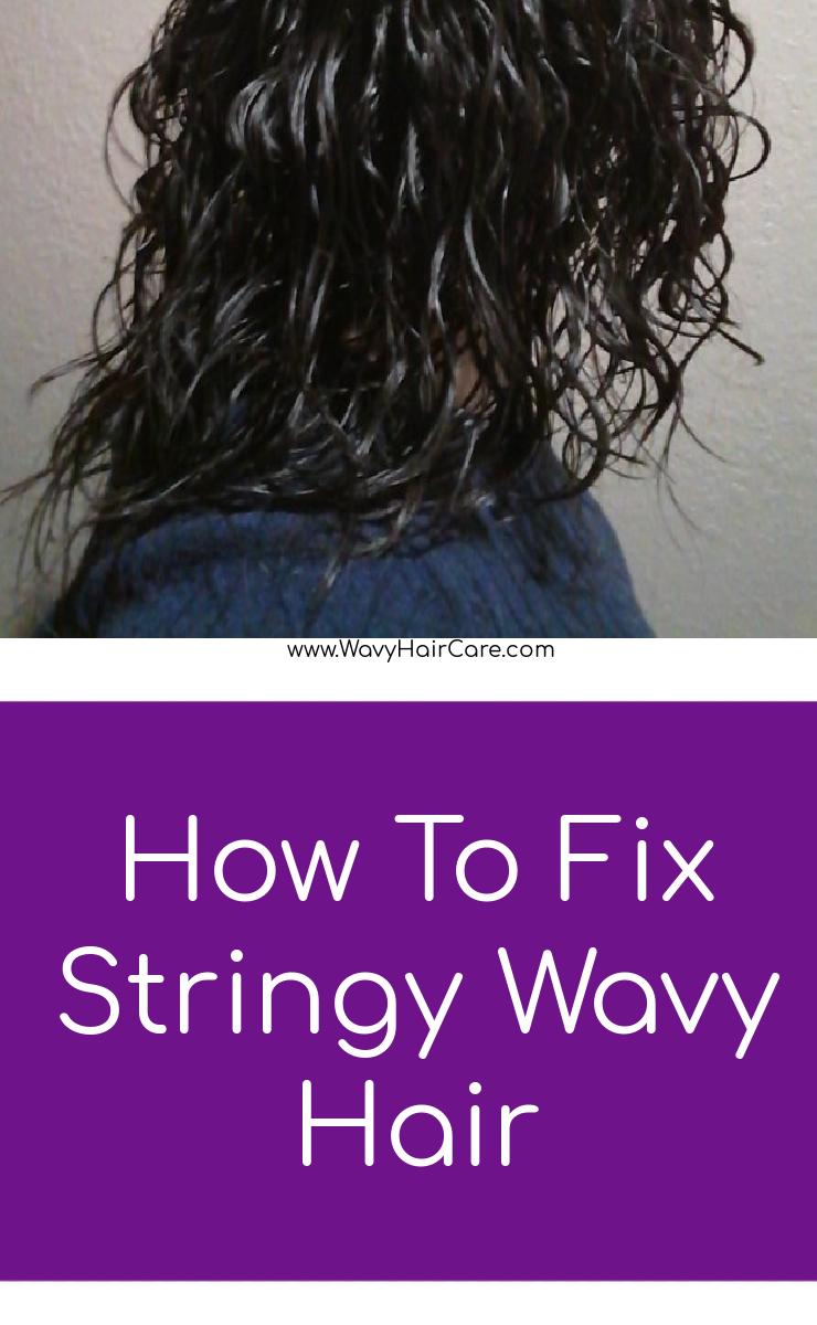 How to fix stringy wavy hair #curlygirlmethod