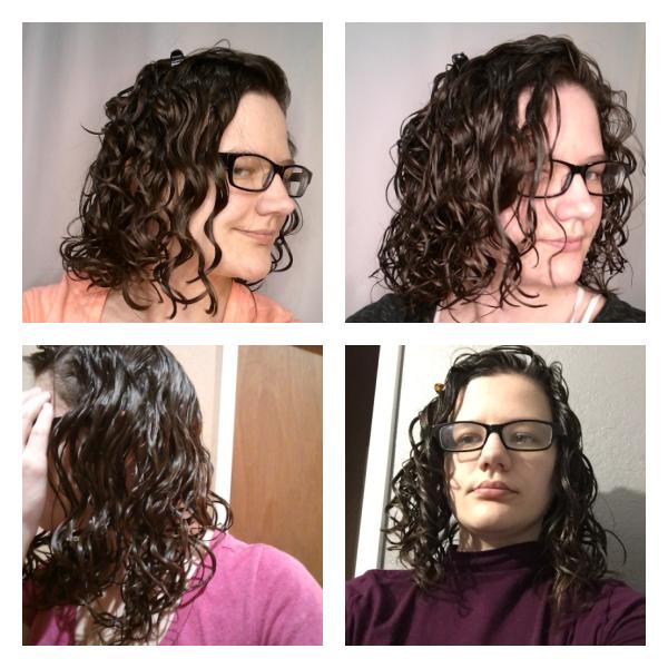 Wavy hair in a gel cast