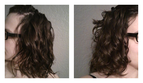 Uneven curl pattern one side is straighter than the other