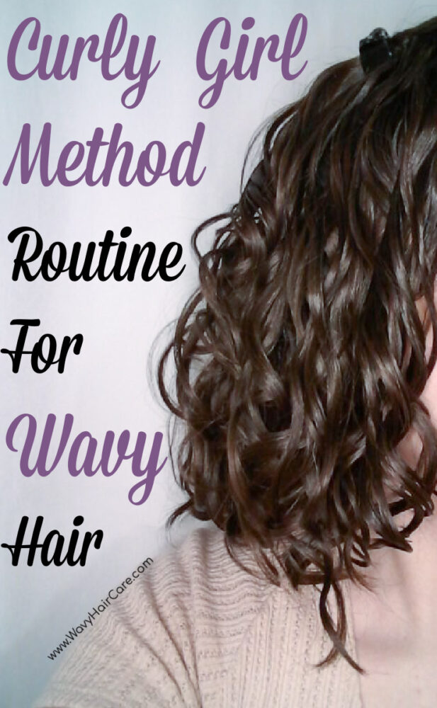 Drugstore curly girl method routine for wavy hair