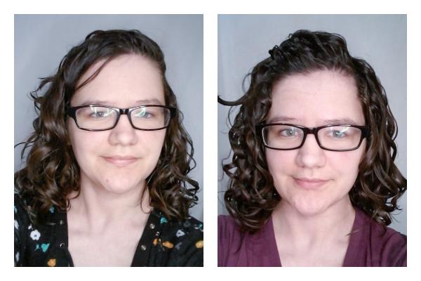 Scrunching a little vs a lot on wavy hair