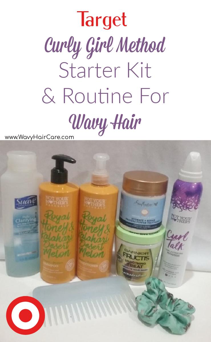 Target curly girl method starter kit for wavy hair + starter routine