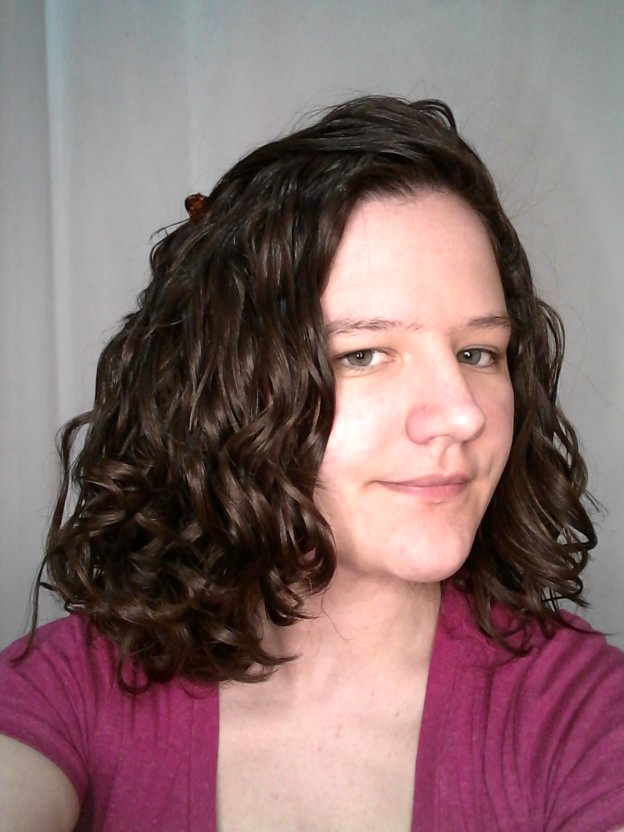 CGM product routine from target for wavy hair