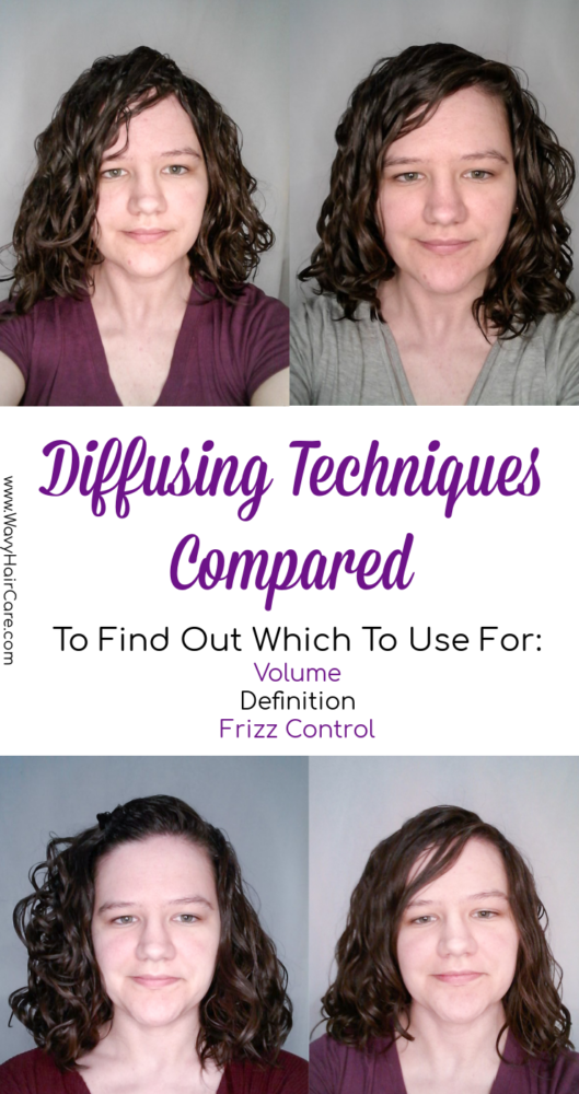 I tested four diffusing techniques to find out which gives the best results for frizz control, volume and definition in wavy hair. #curlygirlmethod