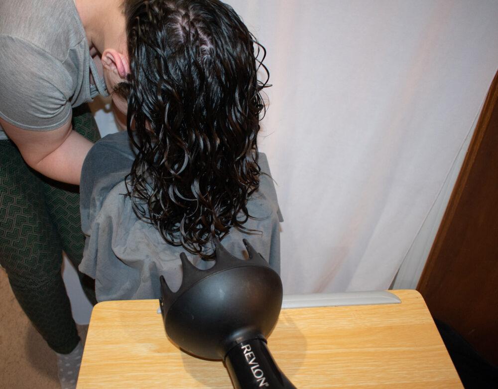 Hammock diffusing tutorial wavy hair
