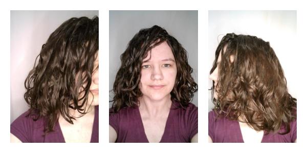 Net diffused wavy hair