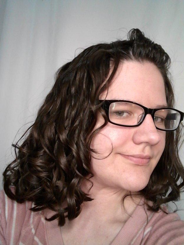 Wavy girl method hair