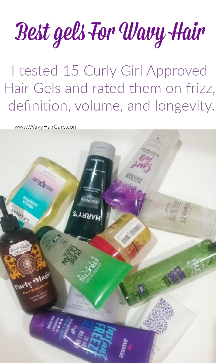 What is the best gel for wavy hair? I tested 15 curly girl method approved hair gels on my wavy hair, to find out! I documented each one with pictures over 3 days to test how they perform on definition, volume, frizz control, and longevity!