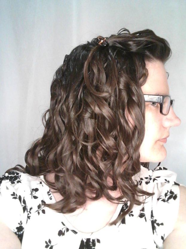 curly girl method made hair straighter