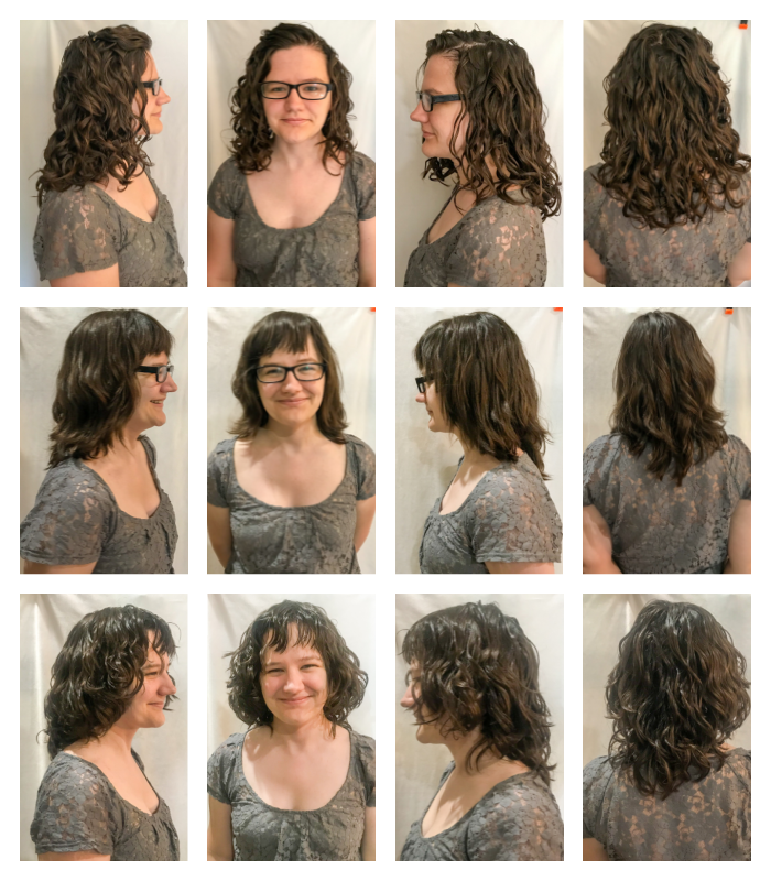 Devacut before and after on naturally wavy hair