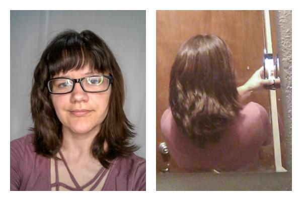 Naturally wavy hair after devacut