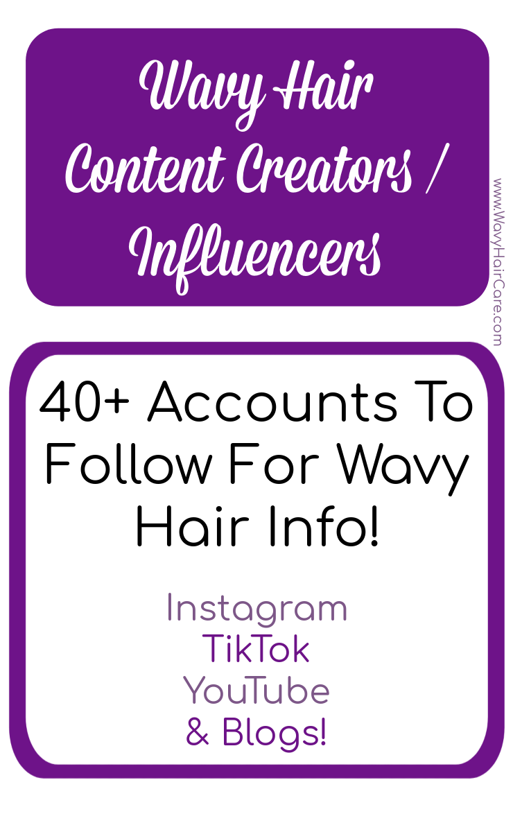 Wavy hair content creators or influencers from youtube instagram tiktok and blogs!