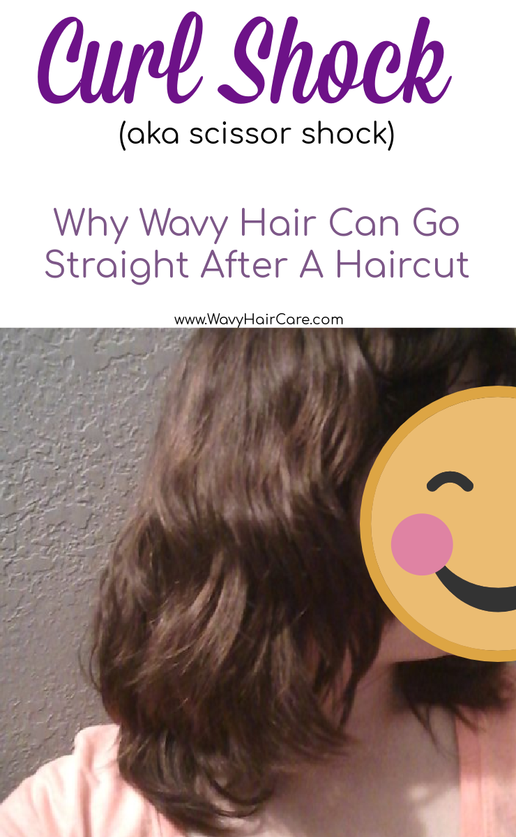 Curl shock or scissor shock - why wavy hair sometimes goes straight after a haircut