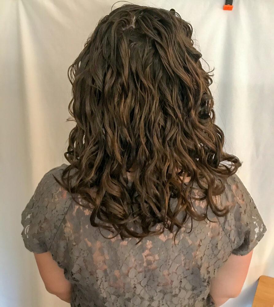 Wavy hair before devacut